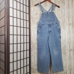 Vintage Old Navy Denim Carpenter Overalls Size 8/9
